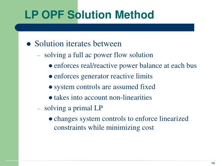 LP OPF Solution Method