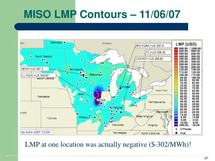 MISO LMP Contours – 11/06/07