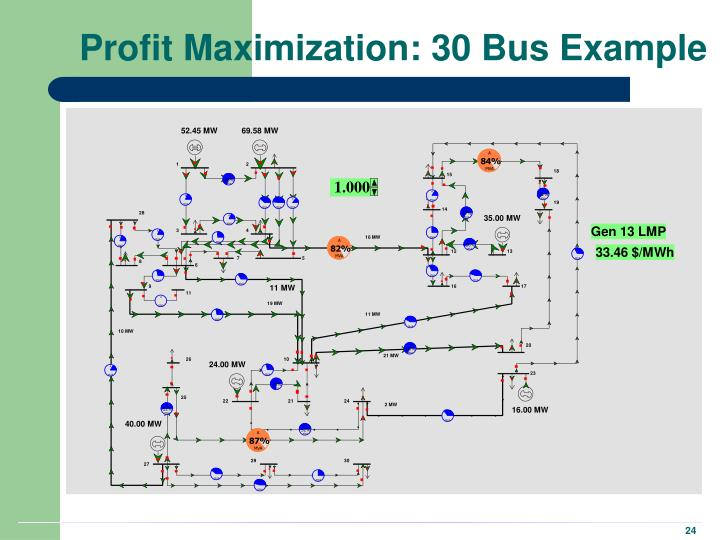 Profit Maximization: 30 Bus Example