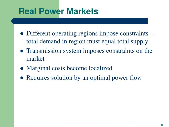 Real Power Markets