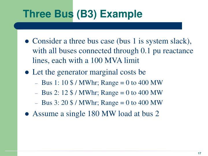 Three Bus (B3) Example