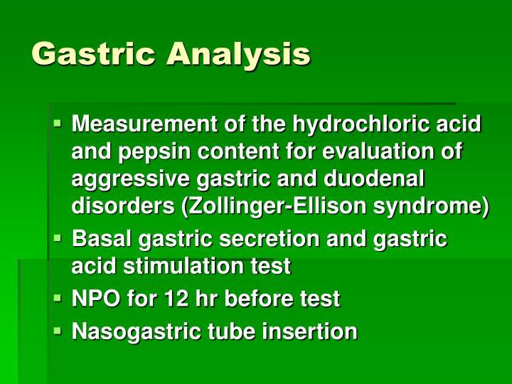 Gastric Analysis
