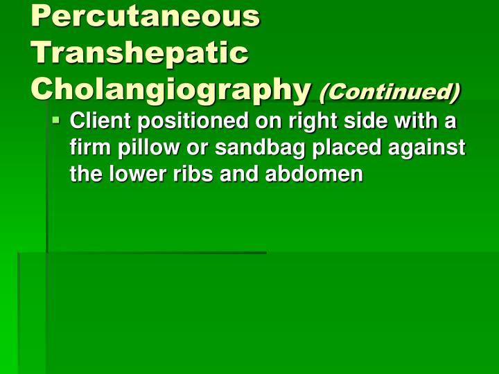 Percutaneous Transhepatic Cholangiography