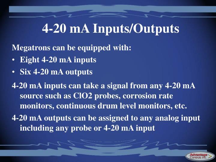 4-20 mA Inputs/Outputs