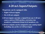 4 20 ma inputs outputs