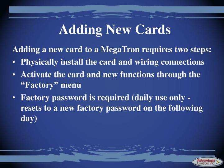 Adding New Cards