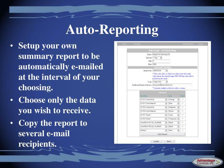 Auto-Reporting