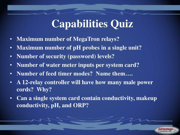 Capabilities Quiz