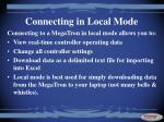 connecting in local mode