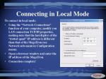 connecting in local mode2