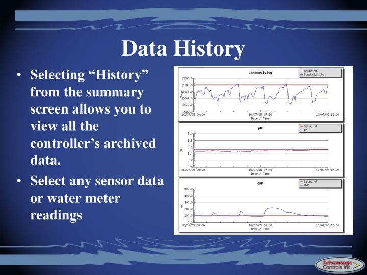 Data History