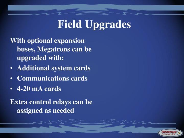 Field Upgrades