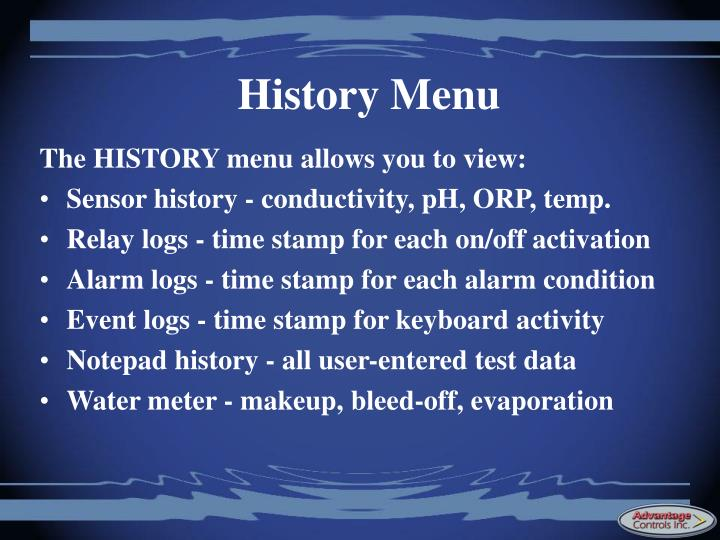 History Menu