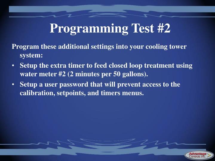 Programming Test #2