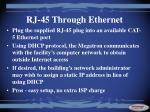 rj 45 through ethernet