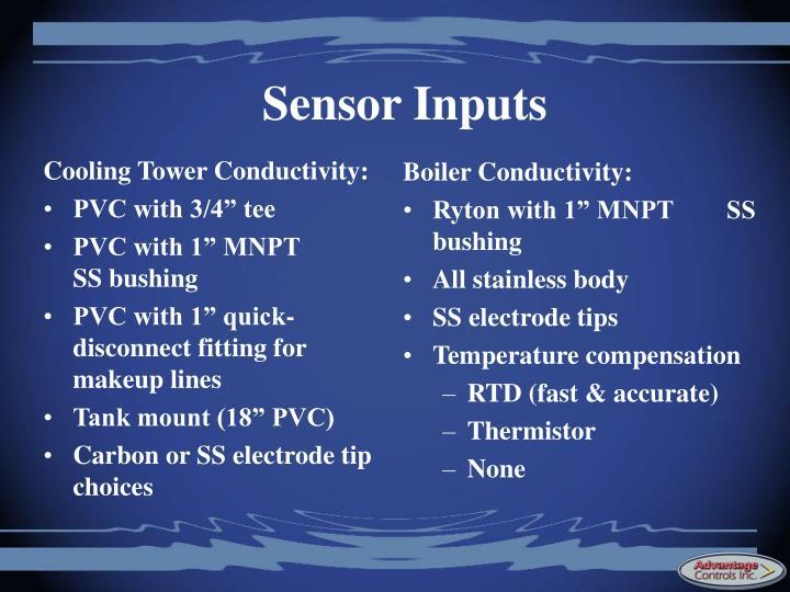 Sensor Inputs