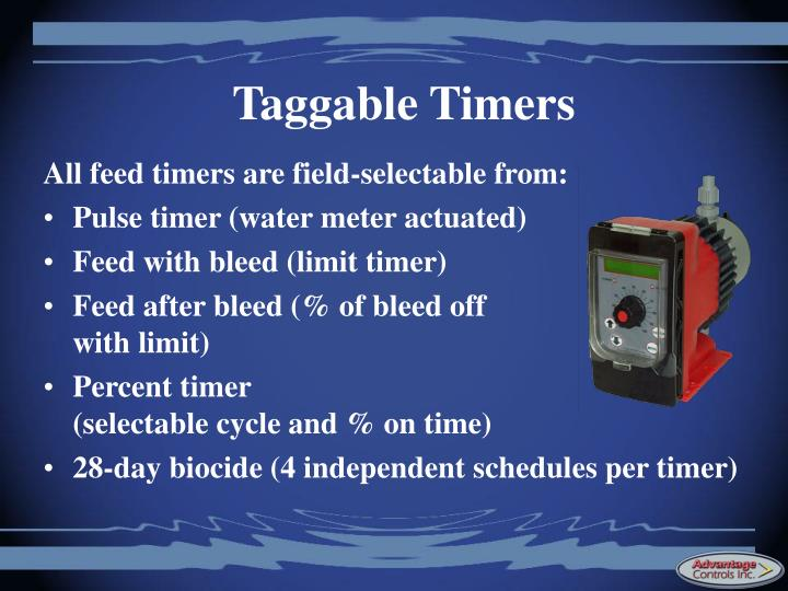 Taggable Timers