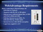webadvantage requirements