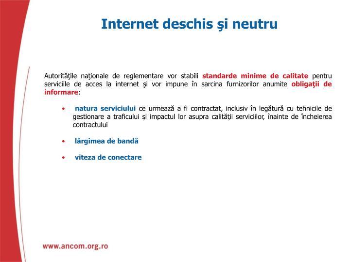 Internet deschis şi neutru