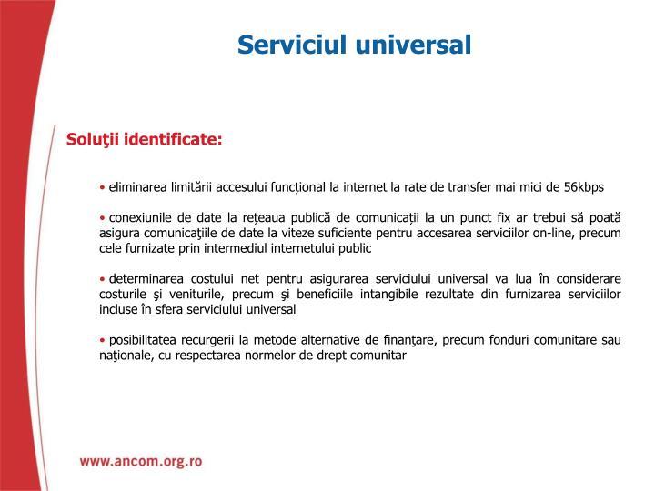 Serviciul universal