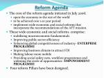 reform agenda