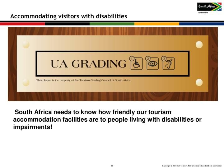 Accommodating visitors with disabilities