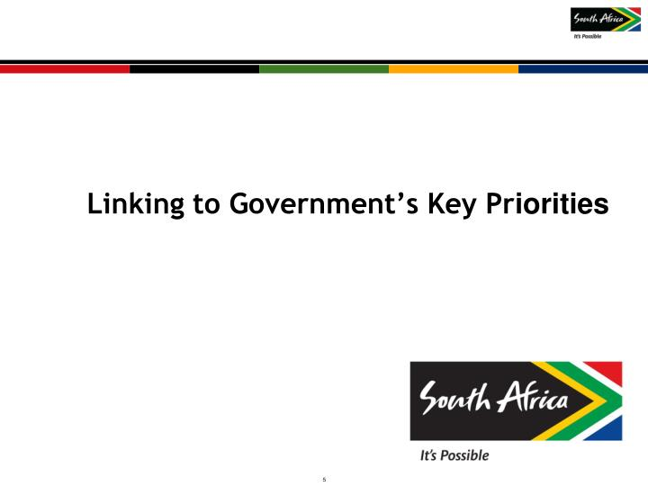 Linking to Government's Key Pr