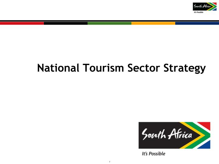National Tourism Sector Strategy