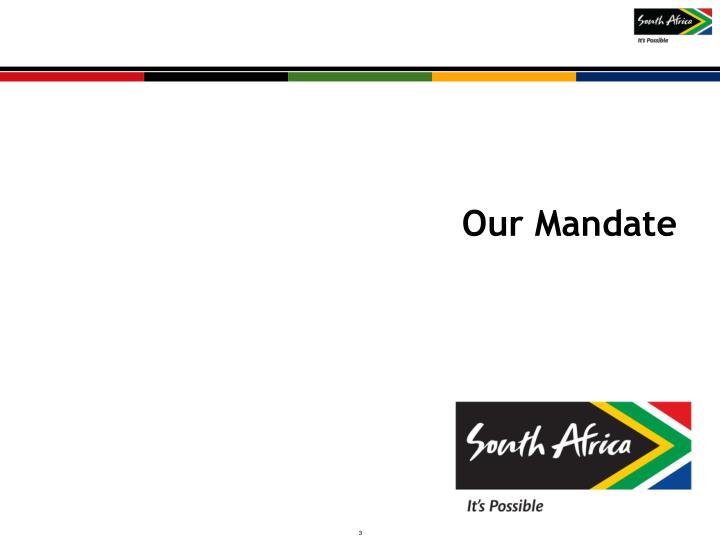 Our Mandate