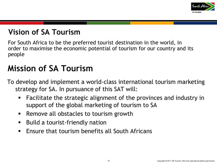 Vision of SA Tourism