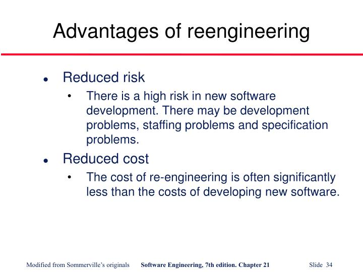 Advantages of reengineering