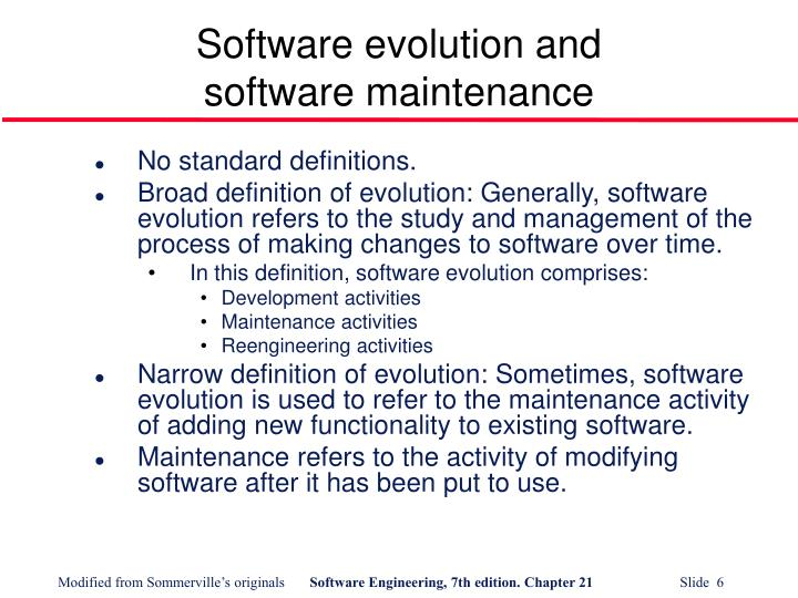 Software evolution and
