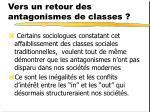 vers un retour des antagonismes de classes