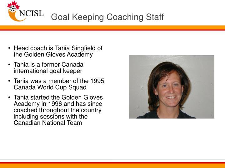 Goal Keeping Coaching Staff