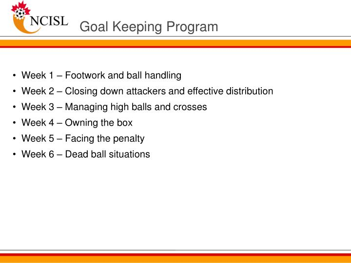 Goal Keeping Program
