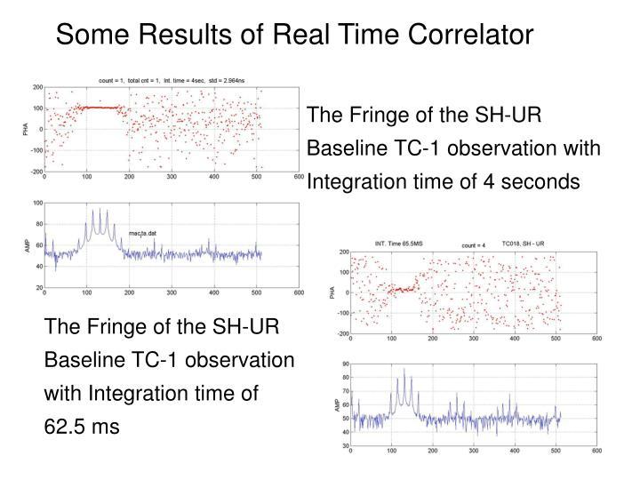 The Fringe of the SH-UR Baseline TC-1 observation with Integration time of 4 seconds