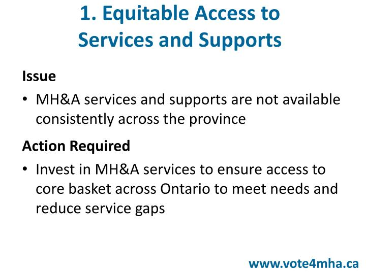 1. Equitable Access to