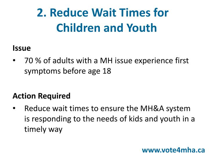 2. Reduce Wait Times for