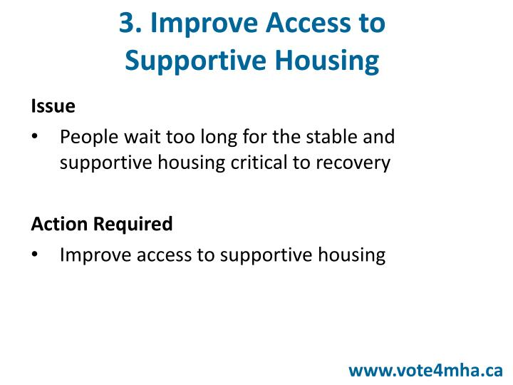 3. Improve Access to