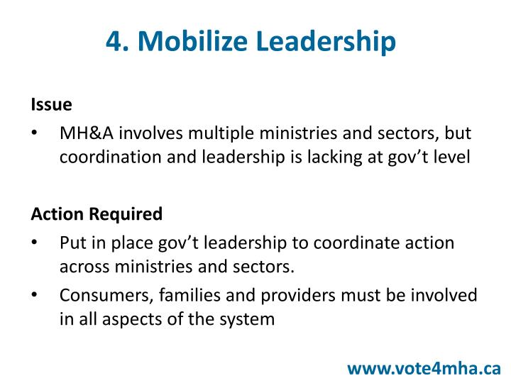 4. Mobilize Leadership