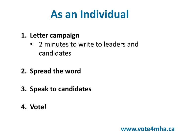 Letter campaign