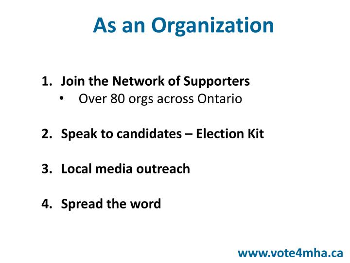 Join the Network of Supporters