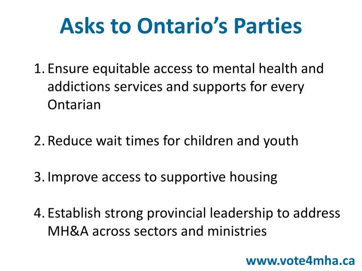 Ensure equitable access to mental health and addictions services and supports for every Ontarian
