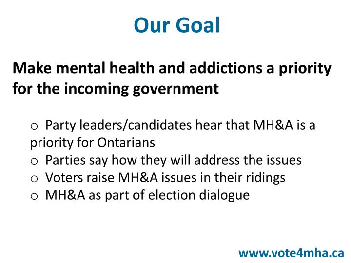 Make mental health and addictions a priority for the incoming government
