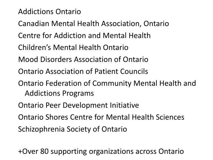 Addictions Ontario