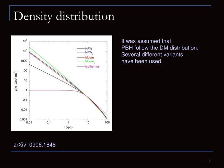 Density distribution