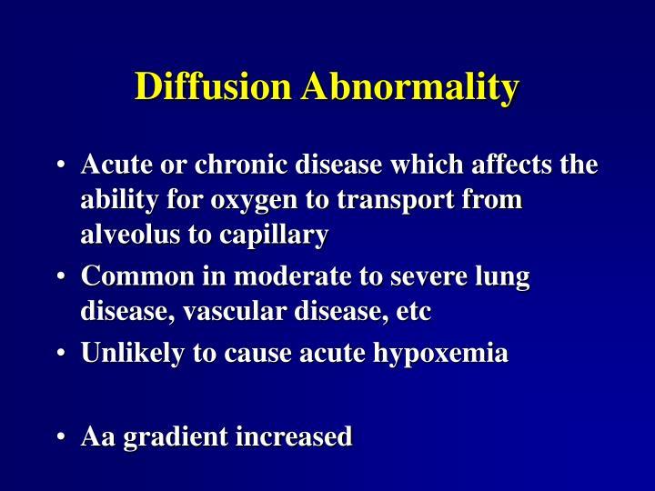 Diffusion Abnormality
