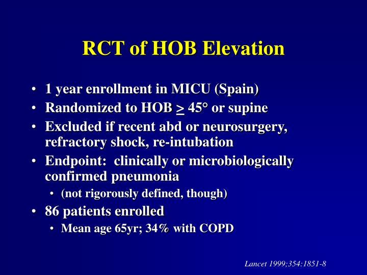 RCT of HOB Elevation