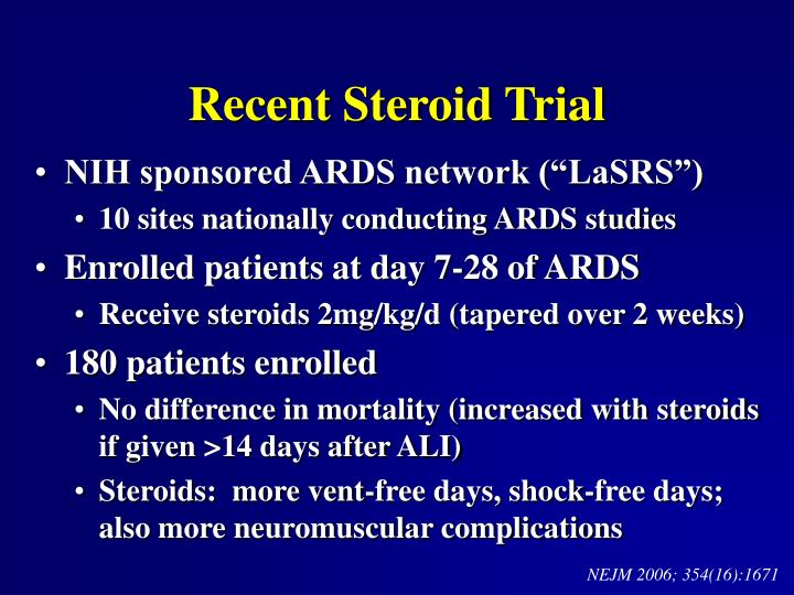 Recent Steroid Trial