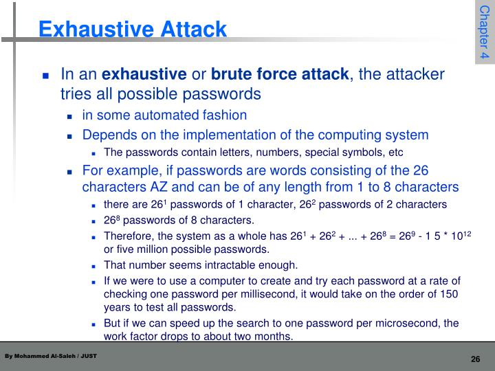 Exhaustive Attack